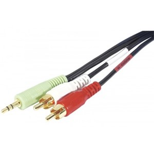 AUDIOKABEL 3,5 mm M-2xRCA M 10,0 m PC99