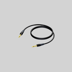 AUDIOKABEL 6,3mm M/M 1,0 m  UBALANSERT