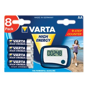 BATTERI AA VARTA HIGH ENERGY 4 PK