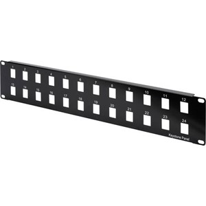 PATCHPANEL 2U FOR KEYSTONE 24-PORT
