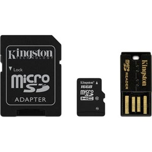 MULTI KIT 16 GB  CLASS 10 MICRO SDHC M/ADAPTER