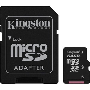 MINNEKORT MICRO SDXC 64GB CLASS 10 KINGSTON