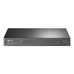 TP-LINK 2xSFP 8xPoE GIGABIT SMART SWITCH 53W T1500G-10PS