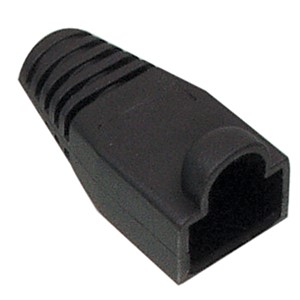CABLE BOOT RJ 45 Ø 5.5mm SVART