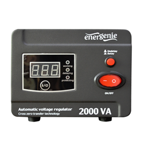 SPENNINGSREGULATOR AVR 2000VA DIGITAL 220V AC