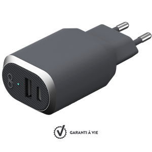 SMART HURTIGLADER MED USB OG USB-C PORT